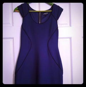 Black amd blue bodycon dress